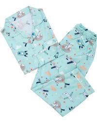 Mooi piyama baju tidur printing premium anak sky rocket (panjang)