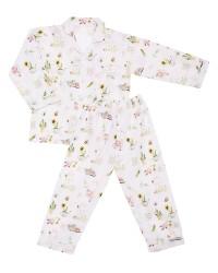 Mooi piyama baju tidur printing premium anak garden bunny (panjang)