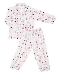 Mooi piyama baju tidur printing premium anak gajah circus (panjang)