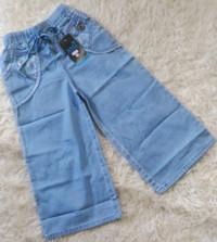 Celana kulot anak tanggung bahan jeans