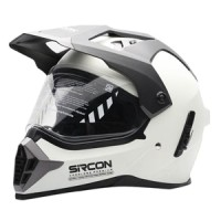 Helm cargloss sircon supermoto glowy white