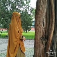 Khimar Cadar Niqab Tali Helpy Button Khadijah Indonesia