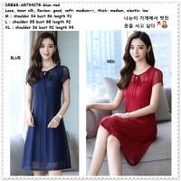 Party Mini Dress Gaun Pesta Korea Import AB734278 Merah Biru Red Blue