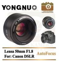 Lensa Yongnuo 50mm F/1.8 / Lensa Fix Yongnuo 50mm F/1.8 For Canon