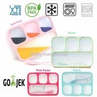 Kotak Makan Lunch Box Yooyee 4 Sekat Grid Leak Proof Anti Bocor Bento
