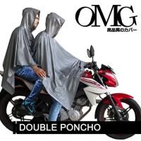 Jas Hujan OMG Motor Karet PVC Terusan Pasangan Double Ponco Raincoat