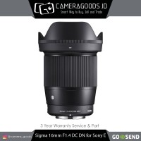 ( Camera Goods ) Sigma 16mm F1.4 DC DN Contemporary Lens For Sony E