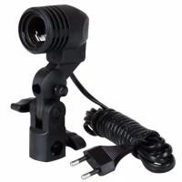 Lamp Holder Single Lampu Studio Fotografi E27 Socket plus slot payung