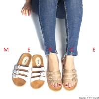 Merce FLORIDA Sandal Sendal Wanita Murah Platform Putih Moka