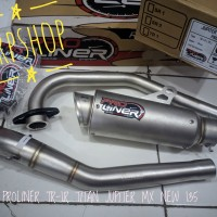 knalpot racing proliner new jupiter mx 135 mxnew mx new 135 tr-1 short