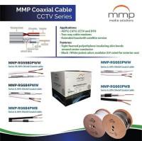 Harga Grosir-Kabel Coaxial MMP RG-6+Power 300 Meter Warna Hitam-Putih