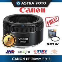 CANON EF 50mm F/1.8 STM GARANSI RESMI FREE FILTER UV