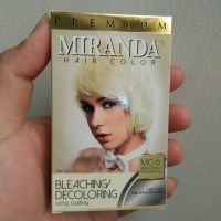 Cat Pewarna Rambut Permanent Miranda Hair Color Bleaching Decoloring