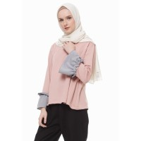 Mybamus Two Tone Lucy Top Pink M12481 R10S3