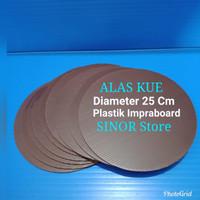 Alas Kue Bulat Diameter 25cm Coklat Tebal 3mm Tatakan Cake Impraboard
