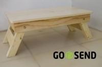 Meja lipat laptop lesehan belajar tv tulis makan kayu jati beland