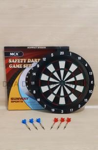 """Safety Dart Board Game SUNWAY 46cm / Papan Dart Board 18"""" - ORIGINAL"""