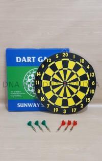 "Dart Board Game SUNWAY 43cm / Papan Dart Board SUNWAY 17"" - ORIGINAL"