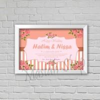 CSW10 - KADO PERNIKAHAN WEDDING HIASAN DINDING CUSTOM