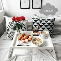IKEA KLIPSK Baki Lipat Tempat Tidur, Meja Lipat, Meja Laptop