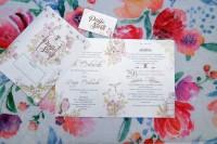 Undangan Pernikahan Vintage Unik Floral Murah