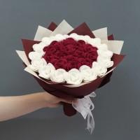 Buket Bunga Flanel Kado Wisuda / Ulang Tahun / Valentine