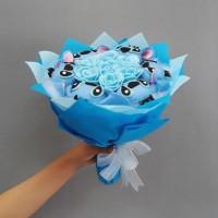 Buket Bunga Mawar Stitch