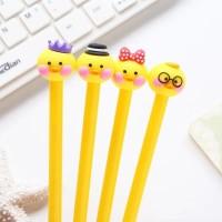 Pulpen pen gel Korea karakter unik MOTIF Funny Chick 0.4 mm