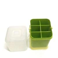 Tempat Sendok Garpu Box Holder 6 skat Golden Sunkist - Rak Sendok
