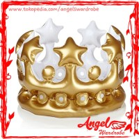 Balon Mahkota Emas   Gold Crown Balloon   Pesta Party Bridal Shower
