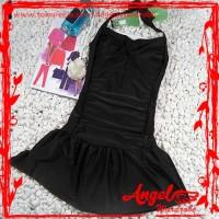 Baju Renang One Piece Swimsuit| Monokini | Halter Top with Mini Skirt