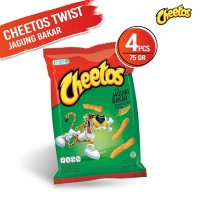 Cheetos Twist Jagung Bakar 75 Gr - 4 Pcs