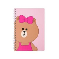 Line Friends Korea Choco Spiral Ring Notebook A5 diary buku catatan