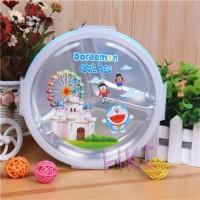 Kotak Makan/Lunchbox Sekat Stainless Bulat Doraemon