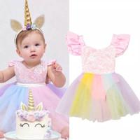 Romper unicorn tutu / tutu unicorn import / dress unicorn bayi anak