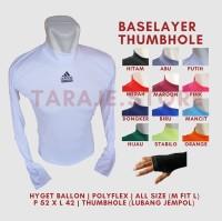 Baselayer Thumbhole Adidas - Putih
