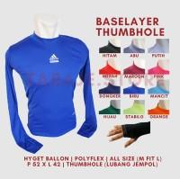 Baselayer Thumbhole Adidas - Biru