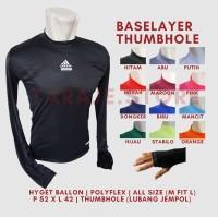 Baselayer Thumbhole Adidas - Hitam
