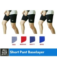 Short Pant Baselayer Adidas - Hitam