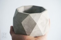 Pot Kaktus Sukulen Geometric Concrete / Semen Original