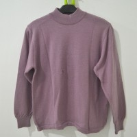 Kaos Turtle Neck Rajut warna ungu merk Nowl (RETURN FO) A011