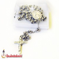 Kalung Rosario Maria Stainless 6 mm Full Logam Anti Karat