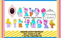Banner Ulang Tahun Anak/ Bunting Flag Happy Birthday Little Pony Party