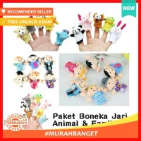 Paket Boneka Jari Animal dan Family Binatang Keluarga Finger Puppet
