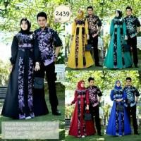 Batik Couple / Kebaya / Sarimbit Gamis Kamajaya Black Jasmine