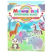 Buku Edukasi Anak PAUD TK Mewarnai Binatang Buas