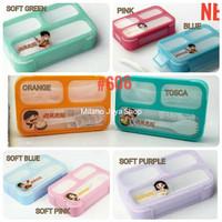 Lunch Box Mini Yooyee Sekat 3 Anti Bocor Tempat Makan Anak Sekolah