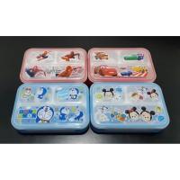 Kotak makan anak bpa free 3 sekat tsum tsum, cars, spiderman, doraemon