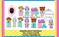 Banner Ulang Tahun Anak/ Bunting Flag Happy Birthday Boneka LOL