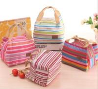 tas bekal lunch bag - Cooler bag salur garis - Iconic Insulated F100
